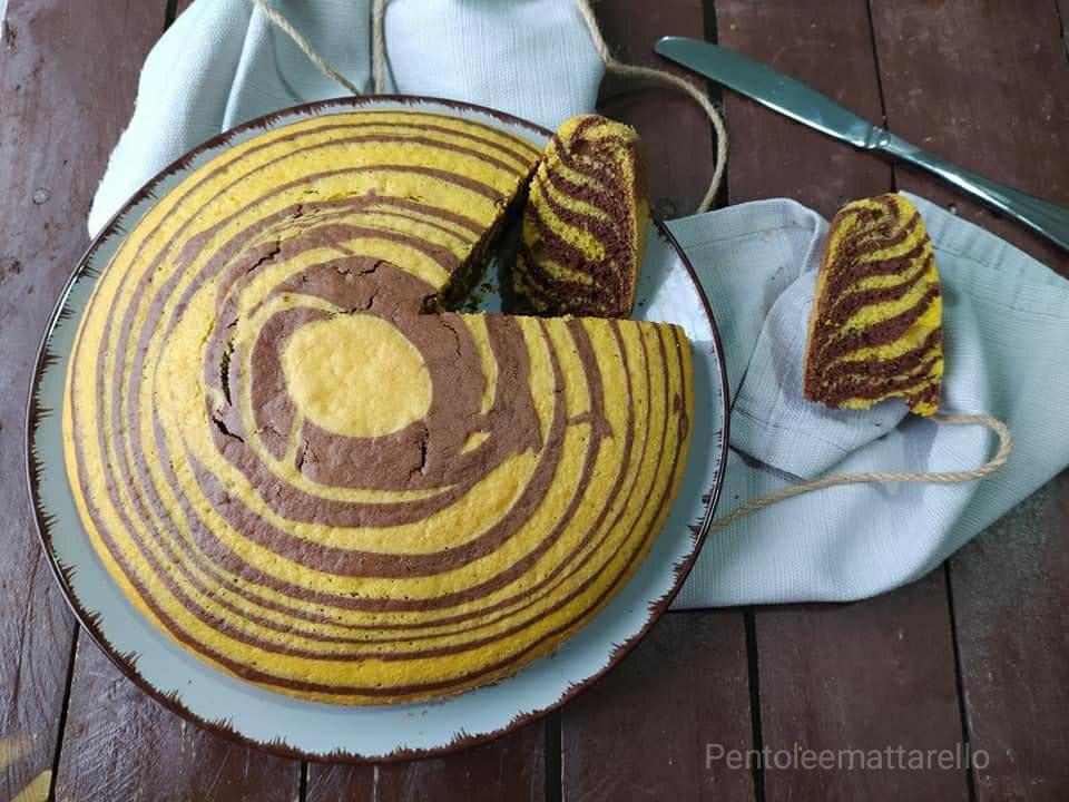 Torta zebrata (Bimby e non)