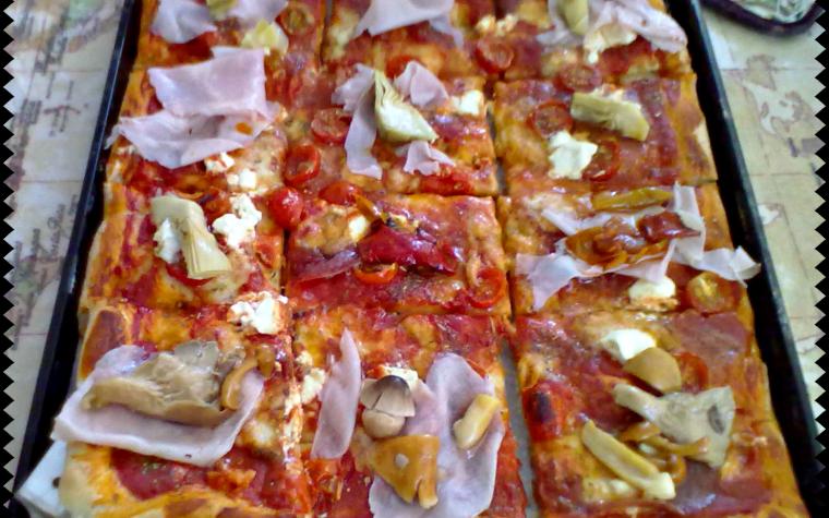 PIZZA AL TAGLIO (ricetta finger-food)