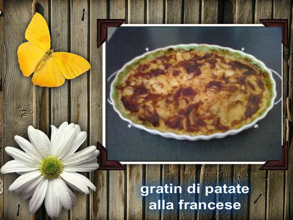 gratin di patate alla francese