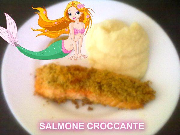 SALMONE CROCCANTE, ricetta di pesce
