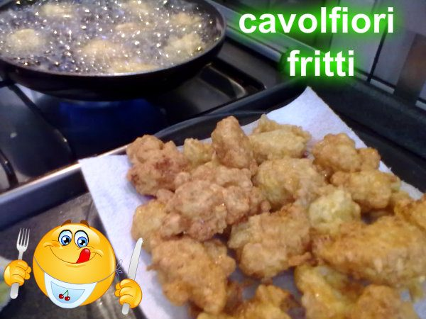 CAVOLFIORI  FRITTI, ricetta di verdure