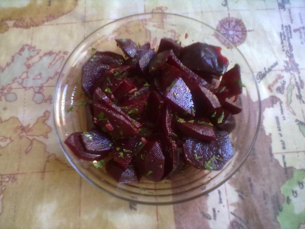 insalata di barbabietole rosse