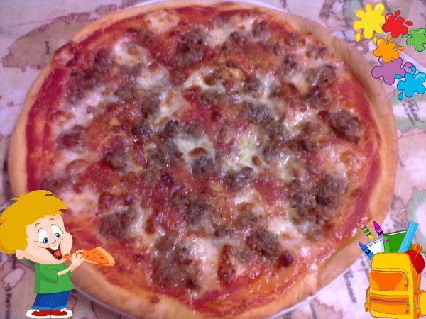 PIZZA CON SALCICCIA, ricetta forno