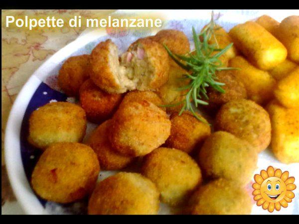 POLPETTE DI MELANZANE, ricetta finger-food