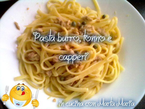 PASTA BURRO, TONNO E CAPPERI, ricetta veloce