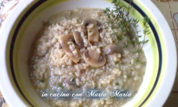 RISOTTO CON FUNGHI AL MARSALA, ricetta facile