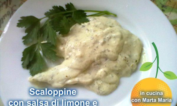 SCALOPPINE CON SALSA DI LIMONE E CAPPERI, ricetta di carne
