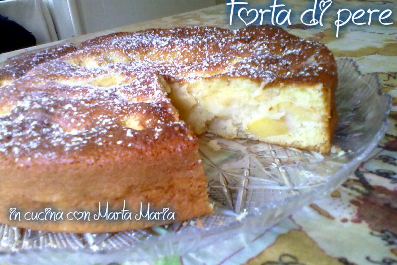 TORTA DI PERE, ricetta facile