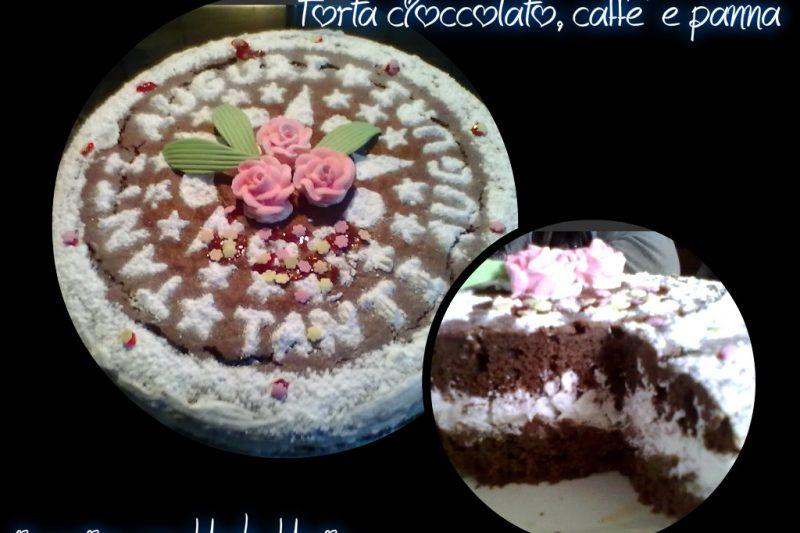 TORTA CIOCCOLATO, CAFFE' E PANNA, ricette feste