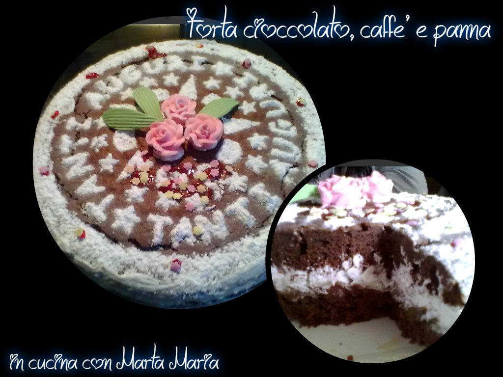 torta cioccolato, caffè e panna