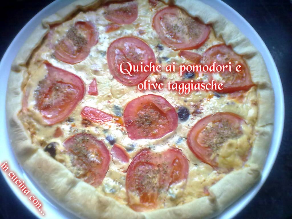 quiche ai pomodori e olive taggiasche