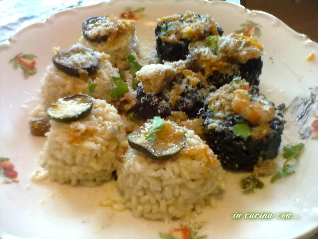 scacchiera di riso ai gamberi