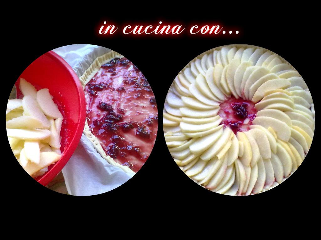 torta di mele e frutti di bosco