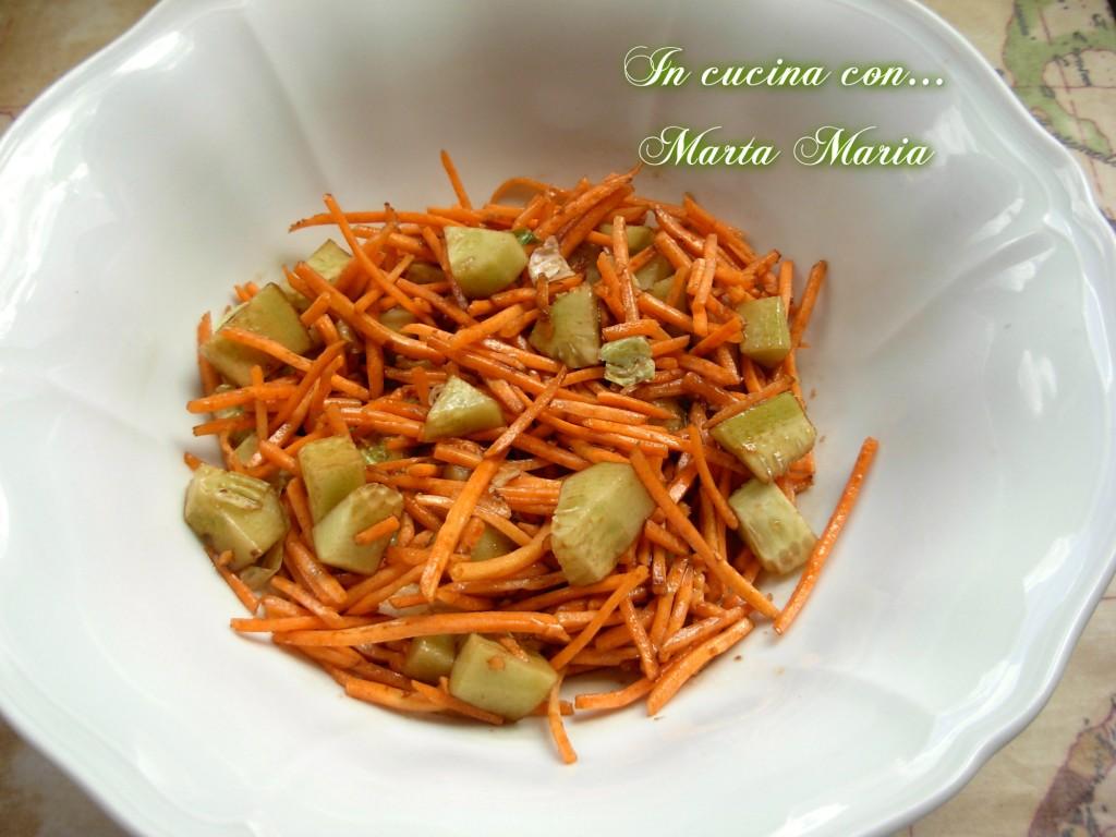 insalata di cetrioli e carote