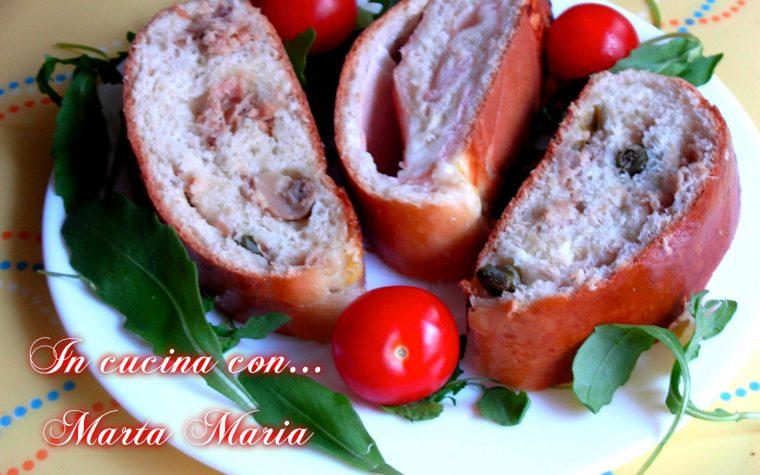 ROTOLO DI PAN BRIOCHE FARCITO, ricetta facile