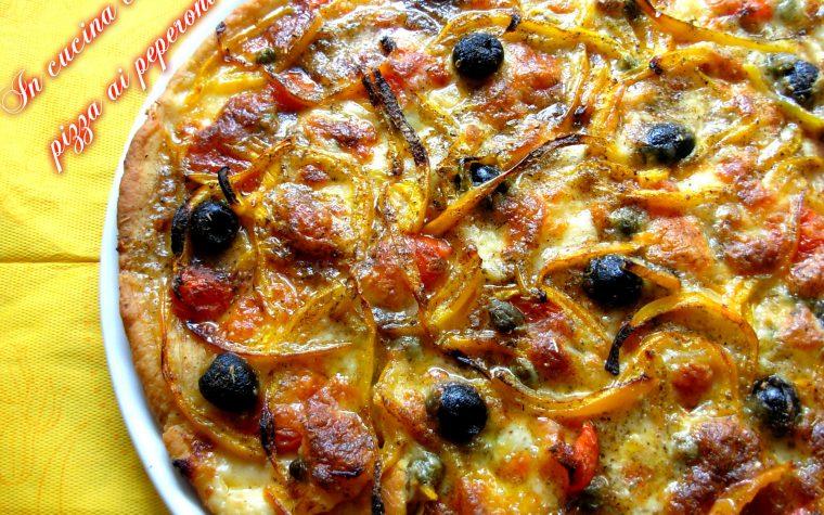 PIZZA AI PEPERONI ISTANTANEA, ricetta forno