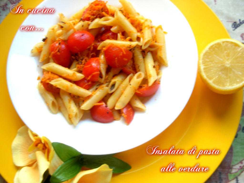 insalata di pasta alle verdure