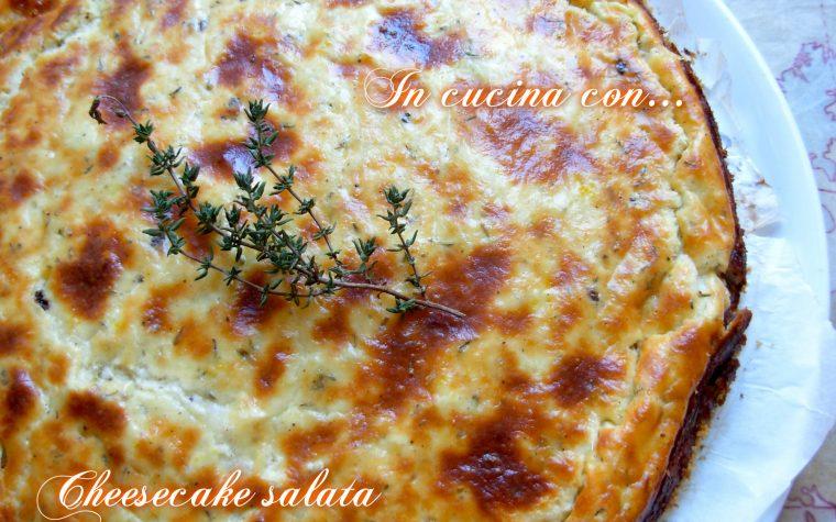 CHEESECAKE SALATA , ricetta facile
