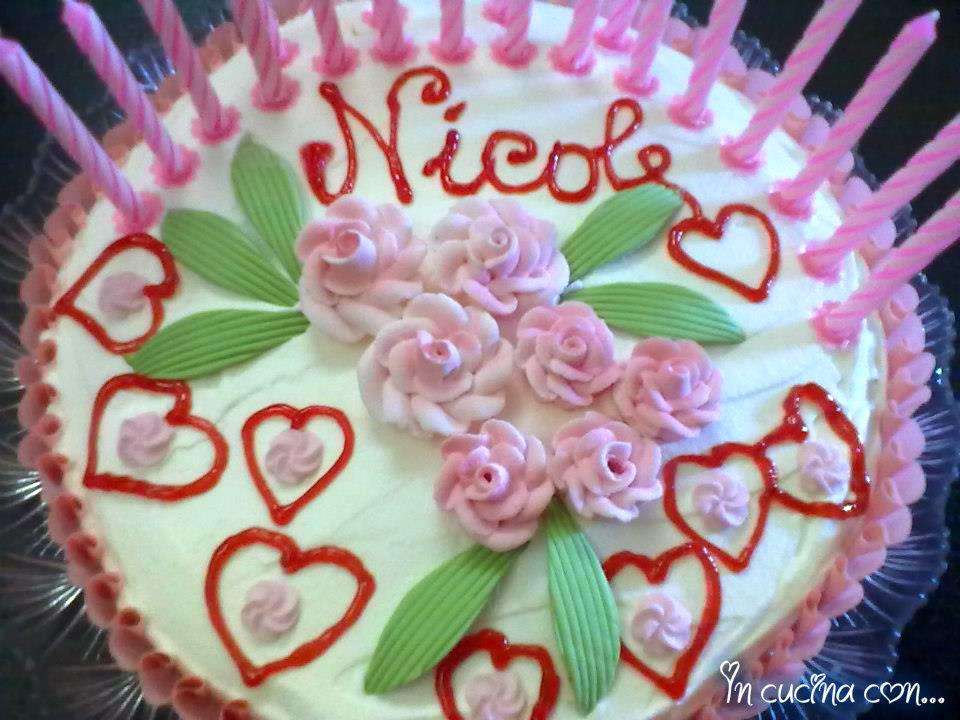 torta auguri Nicole