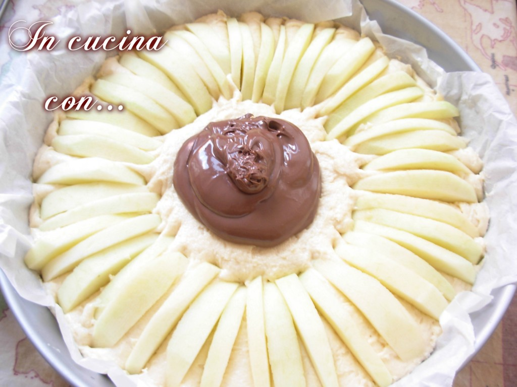 torta di mele con nutella