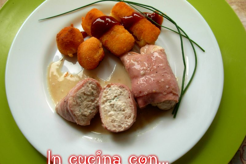 Involtini di pollo con prosciutto noci e formaggio