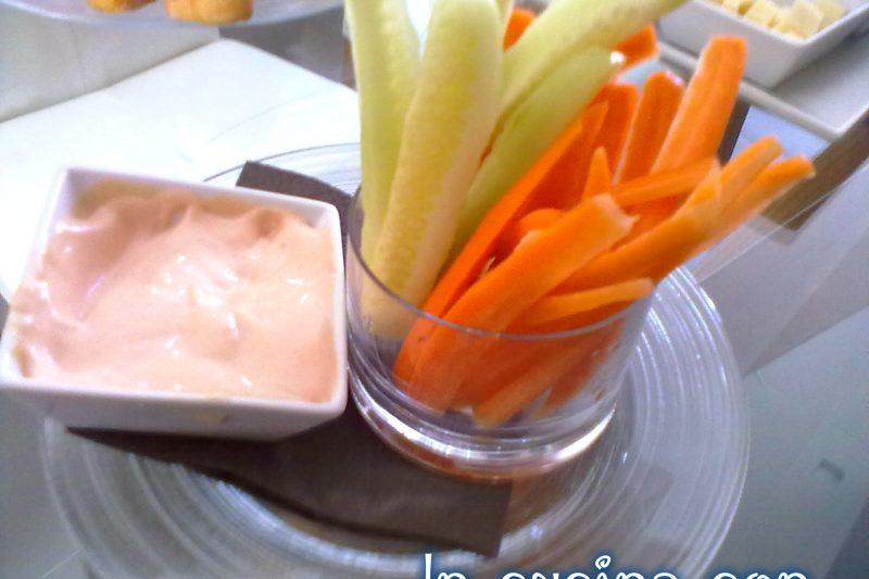 VERDURE IN PINZIMONIO ROSA, ricetta finger-food