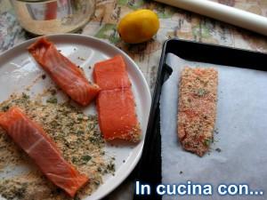 salmone impanato