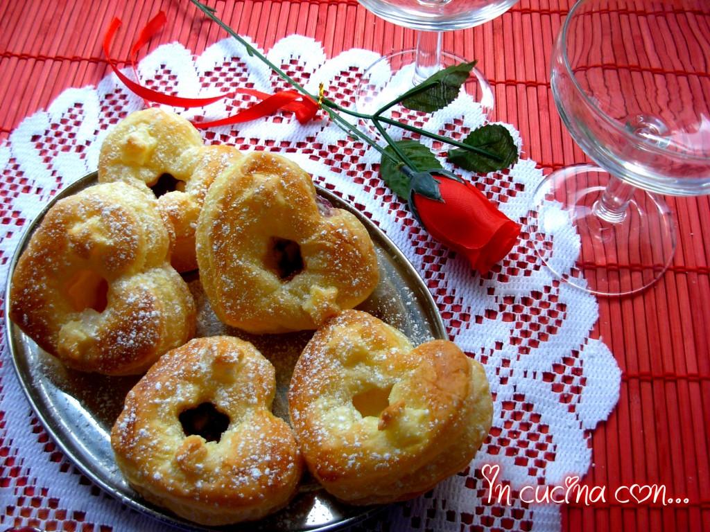 cuori dolci di sfoglia