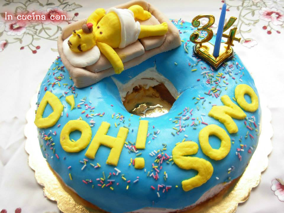 torta donuts con homer simpson