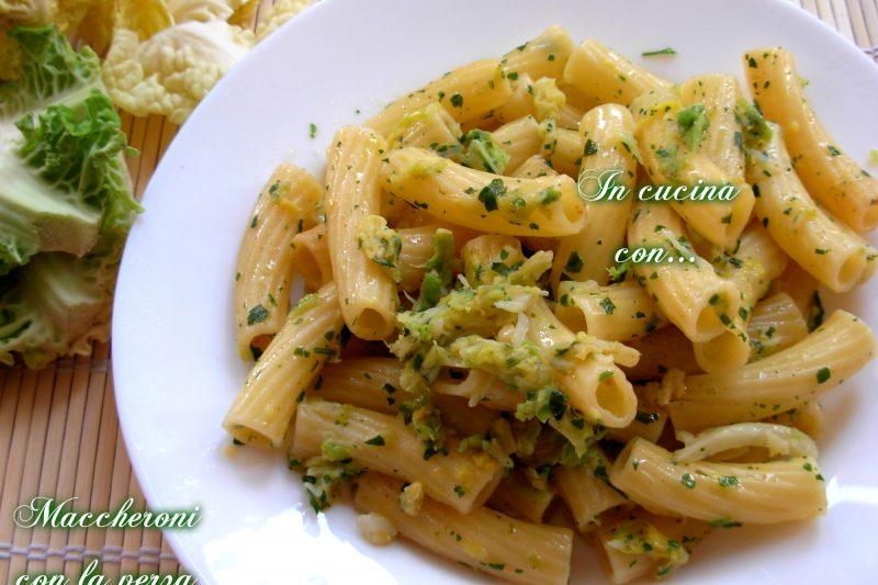 MACCHERONI CON LA VERZA, ricetta veloce di verdure