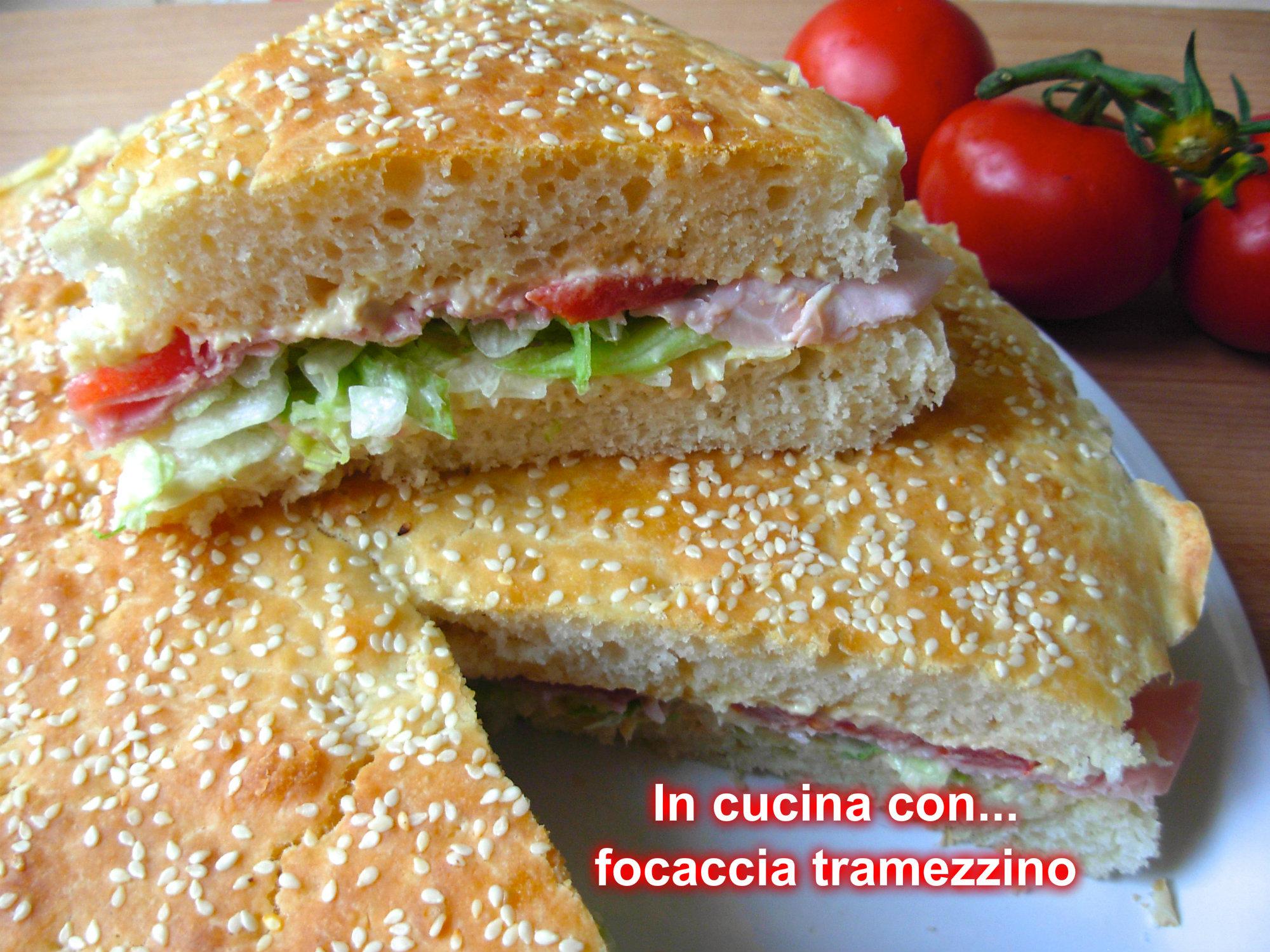 Focaccia Tramezzino Ricetta Bimby In Cucina Con Marta Maria