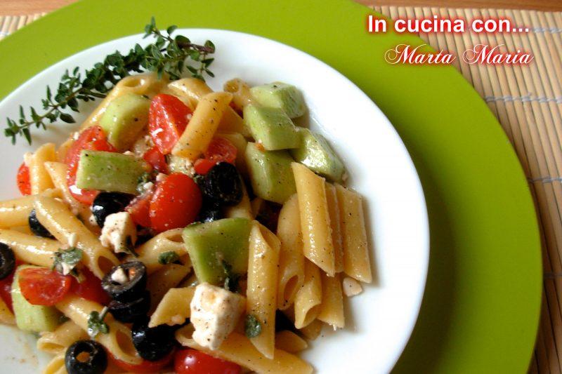 Pasta alla greca, ricetta estate