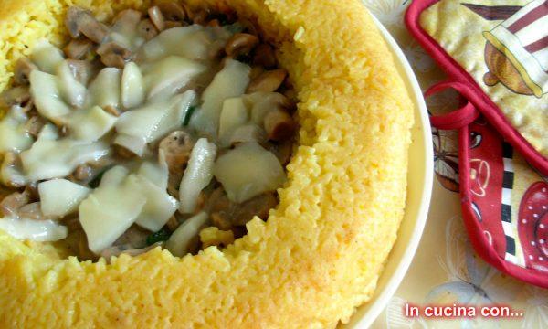 Anello di riso ai funghi, ricetta forno