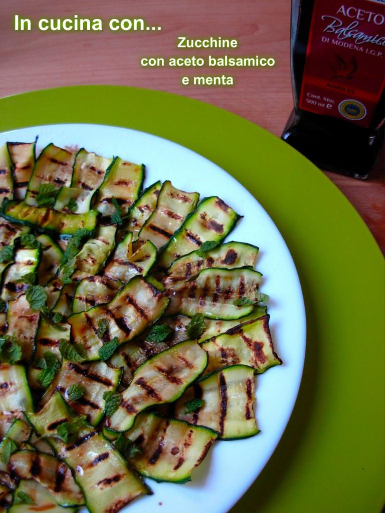 zucchine con aceto balsamico