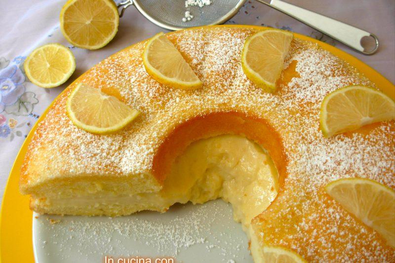 Ciambella soffice con crema al limone