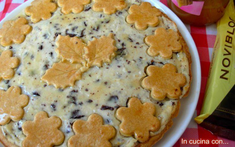 Crostata con ricotta cioccolato e miele