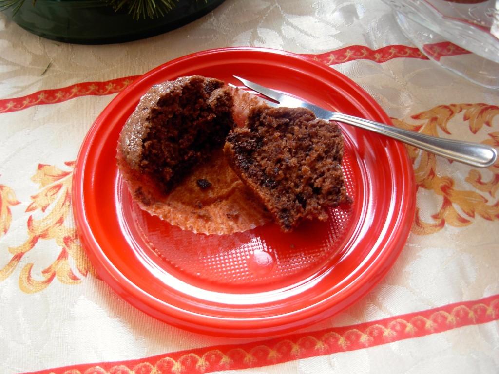 muffin al cioccolato, interno