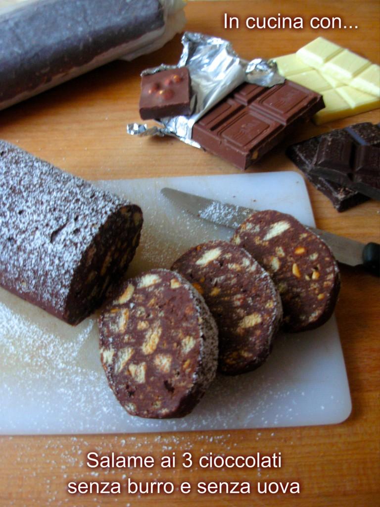 salame ai tre cioccolati