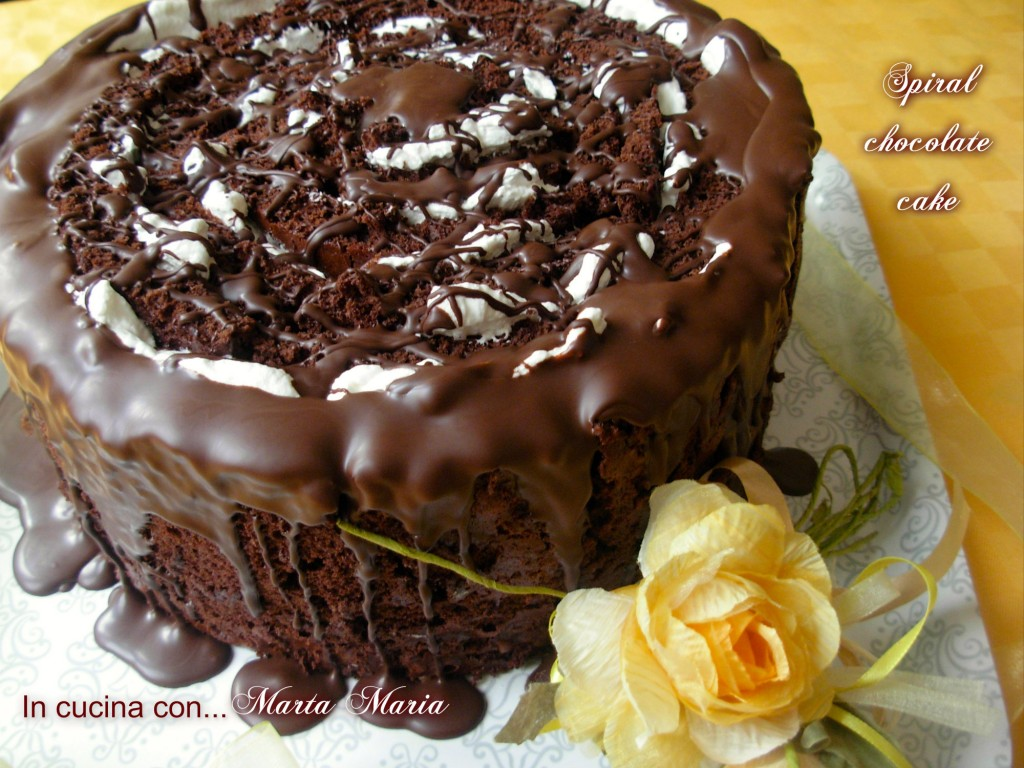 spiral chocolate cake