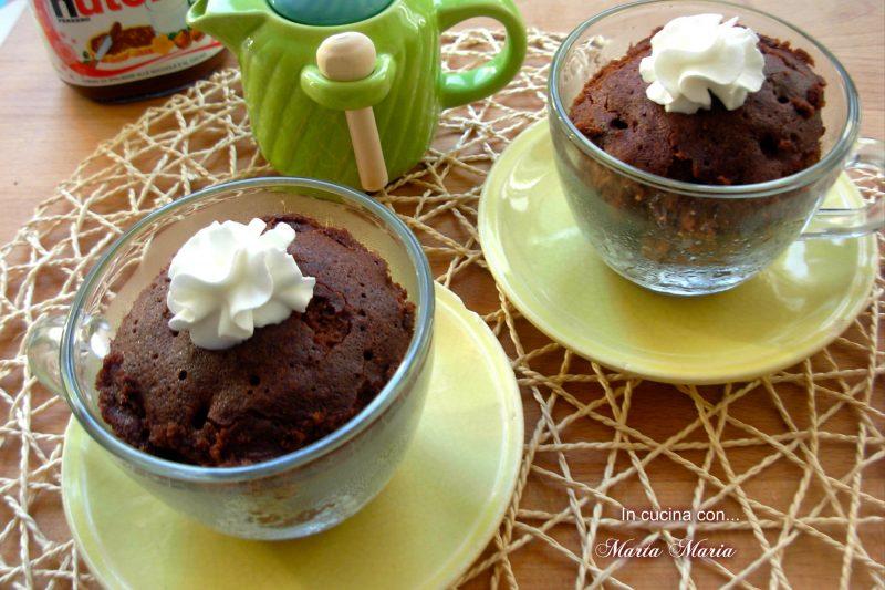 Torta in tazza alla nutella, ricetta microonde