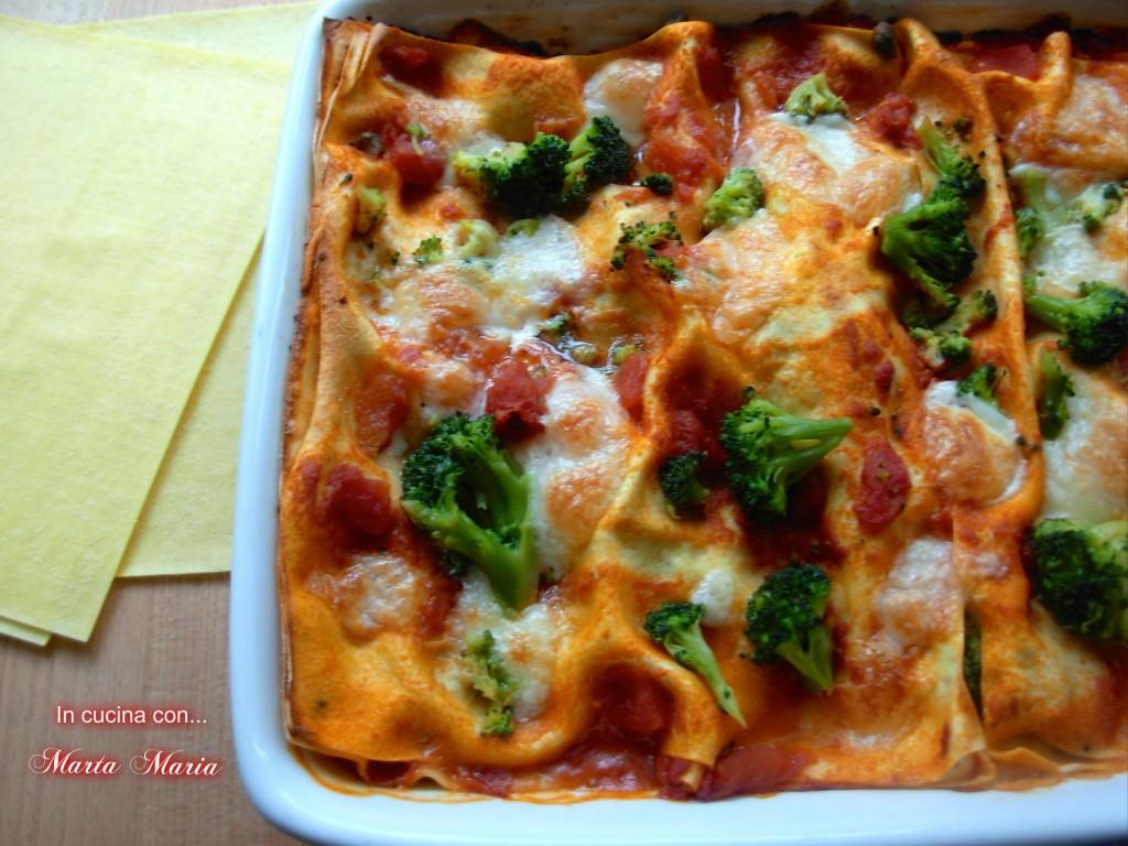 lasagne piccanti con broccoli