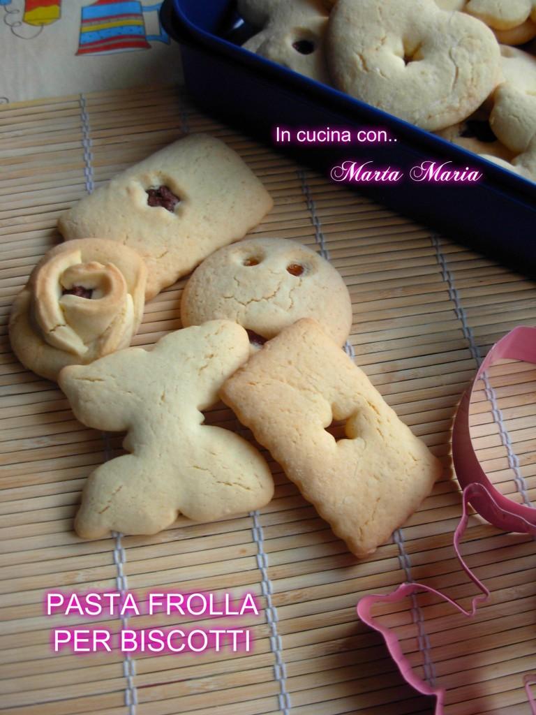 pasta frolla biscotti