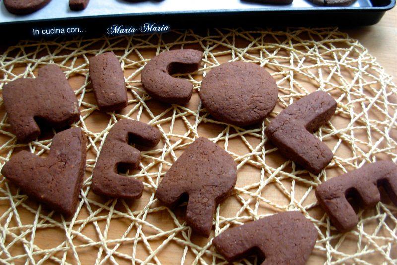 Biscotti di frolla al cacao, senza uova