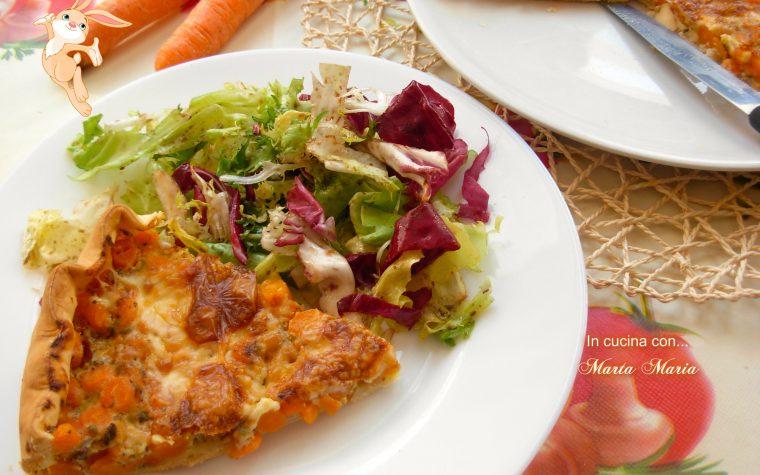 Crostata di carote e yogurt, ricetta salata