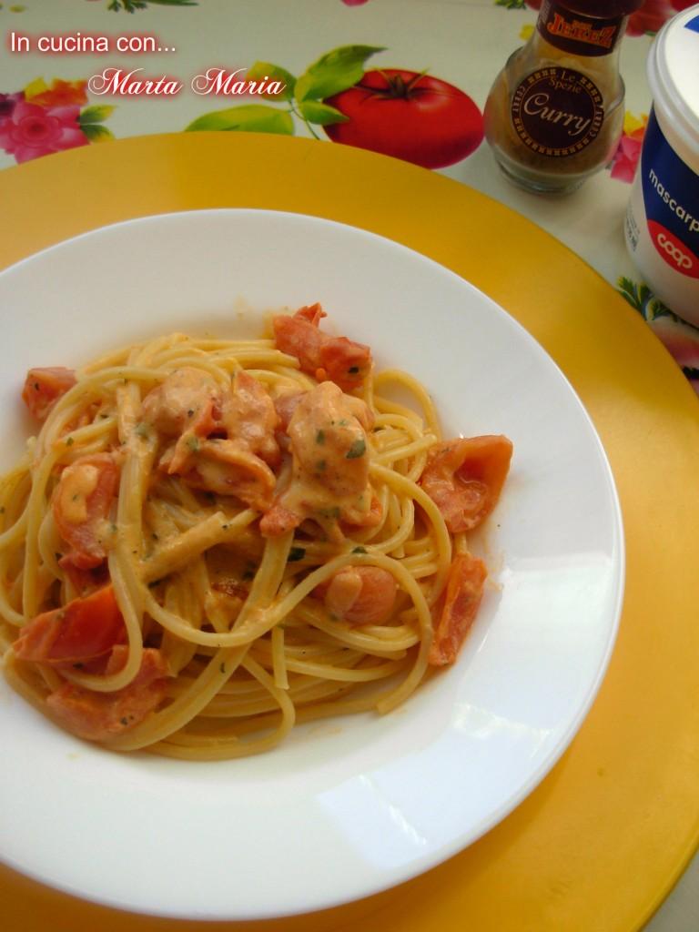 spaghetti pomodorini curry