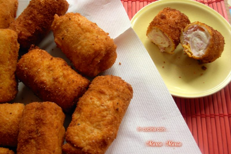 Involtini di pane, ricetta facile