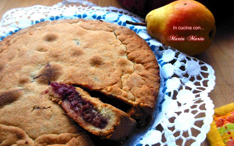 Torta ripiena di pere, ricetta con la frutta