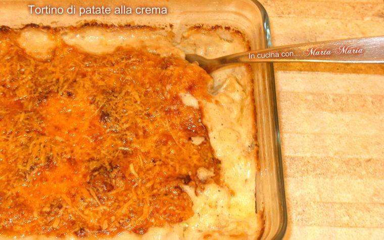 Tortino di patate alla crema