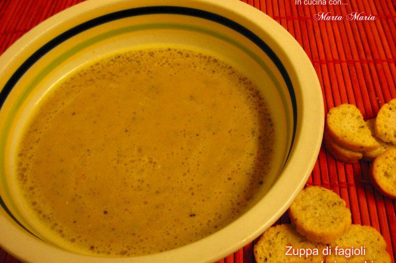 Zuppa di fagioli di spagna e pomodori secchi
