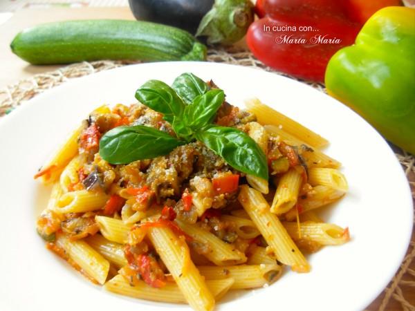pasta con verdure saltate